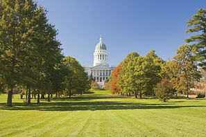 State capital building in Augusta Maine.