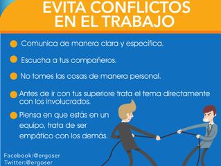 Evita conflictos en el trabajo