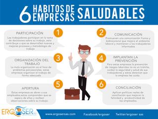 6 hábitos de empresas saludables.