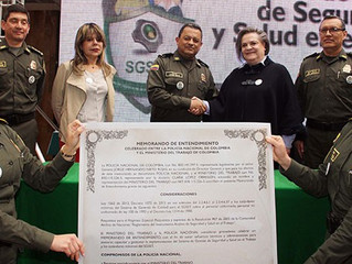 MinTrabajo y Policía firman acuerdo para contrarrestar accidentes y enfermedades laborales de más de