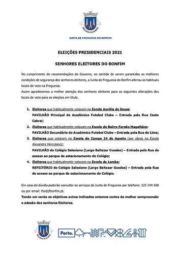 Eleições Presidenciais - Locais de voto_