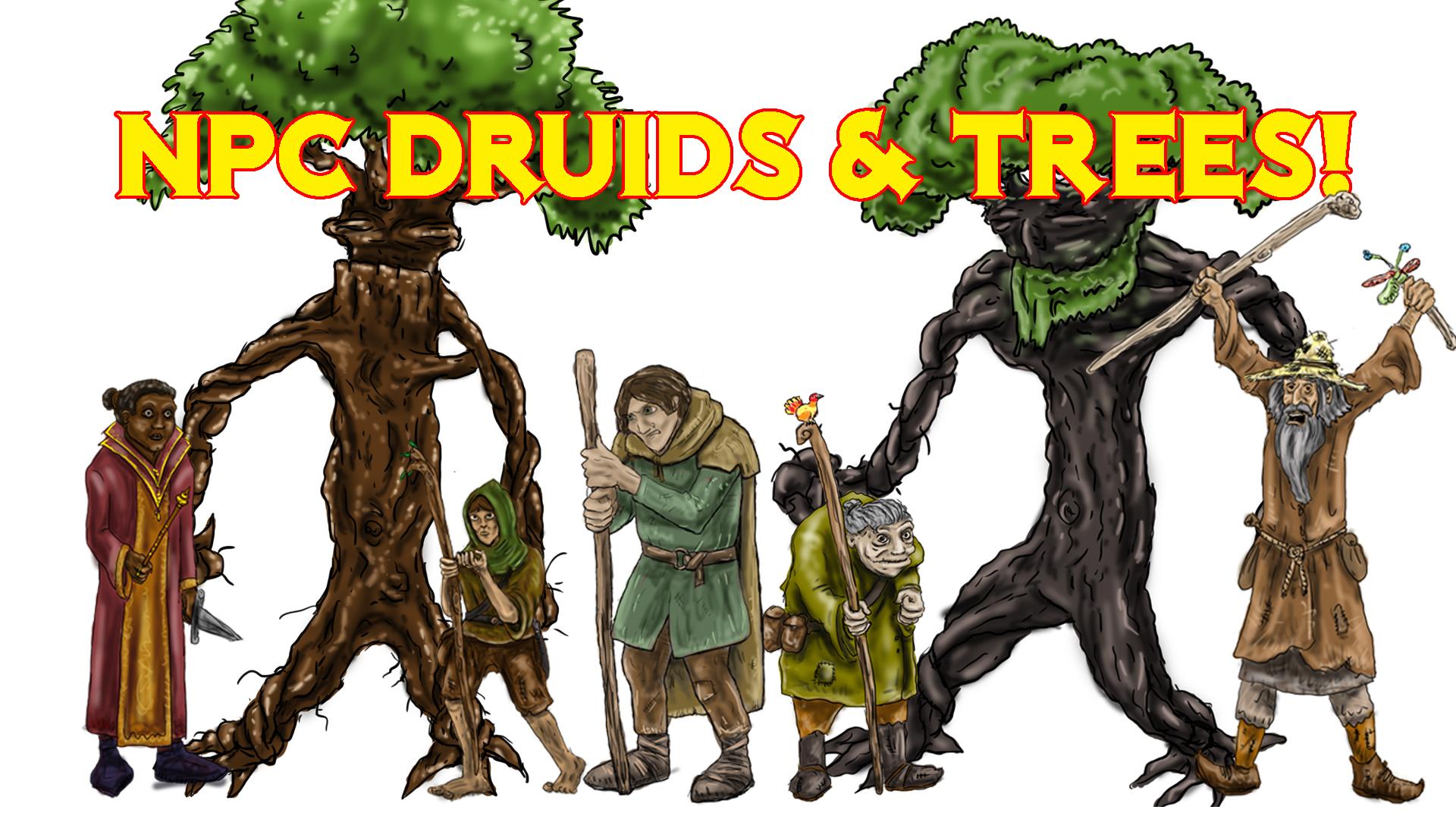 PROMO GROUP SHOT NPC Druids & Trees