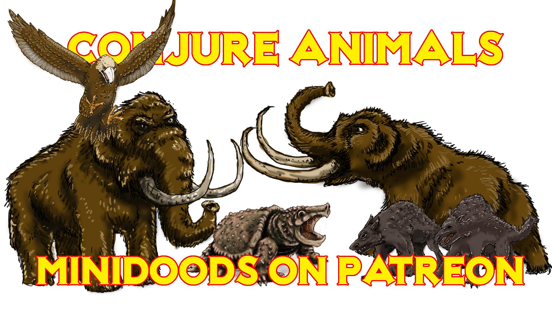 PROMO GROUP SHOT conjure animals part 2.