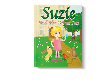 a little girl  called Suzie and her dream pets, cats, dog, pet