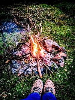 Glen Brittle Wild Camp Fire