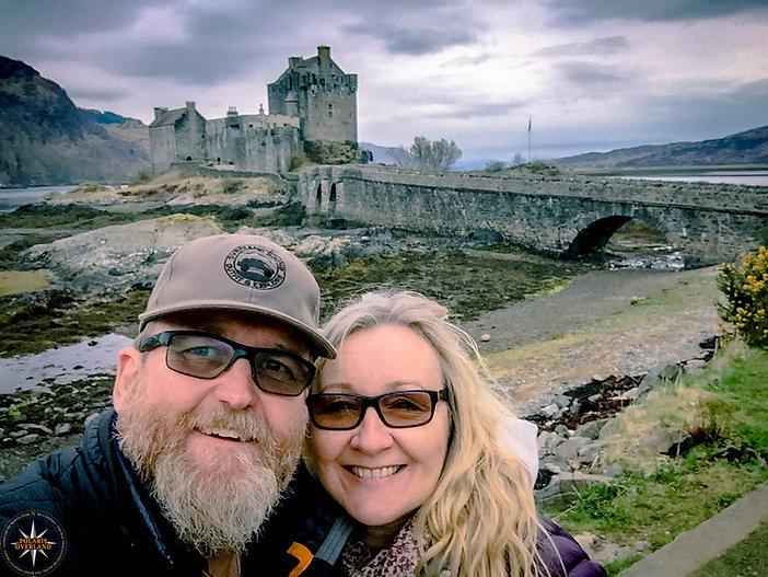 Dave and Angela at Eilean Donan Castle