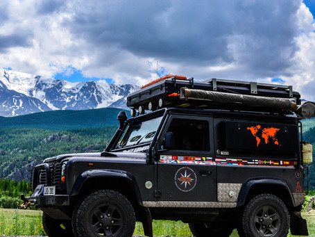 Wilson Our Land Rover Defender TD5 90 Tomb Raider Edition.