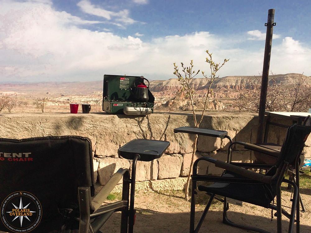 Morning Coffee at Kaya Camping Goreme, Cappadocia
