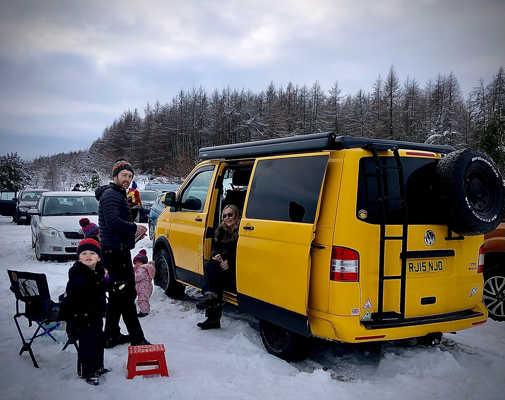 VW T5 Snow Fun with Family