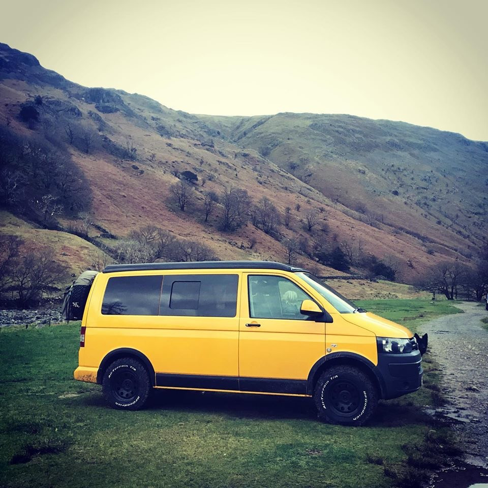 VW T5 in the Lake District