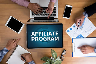 AFFILIATE PROGRAM Business team hands at