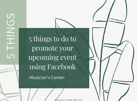 5 Things To Do To Promote Your Event On Facebook