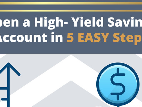 Open a High-Yield Savings Account with only $100 in 5 EASY Steps!