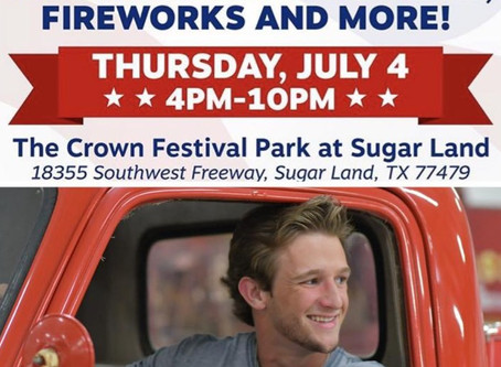 HAYDEN BAKER TO PERFORM AT SUGAR LAND'S RED, WHITE, AND BOOM! FESTIVAL ON JULY 4