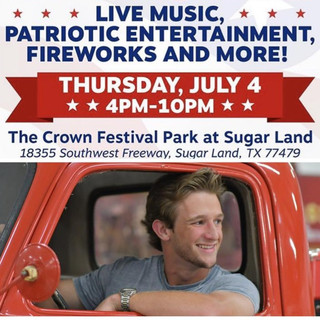 HAYDEN BAKER TO PLAY SUGAR LAND'S RED, WHITE & BOOM! FESTIVAL JULY 4  ARTICLE AT HOUSTON CHRON