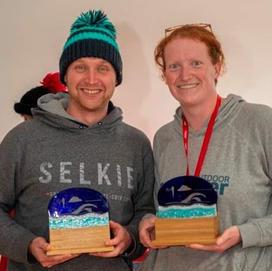 Craig Holmes and Jo Jones - British Ice Swimming 500m Champions