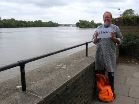 65@65 SWIM #61 - KEW BRIDGE TO HAMMERSMITH, THE RIVER THAMES IN LONDON