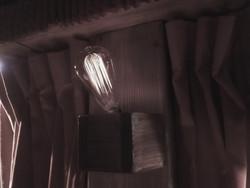 Custom light fixtures & Edison bulbs