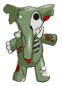 Thom the Elephant first concept of the Animazombs