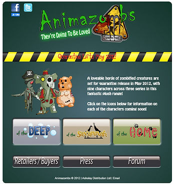 Animazombs Website - the first ever... circa 2011