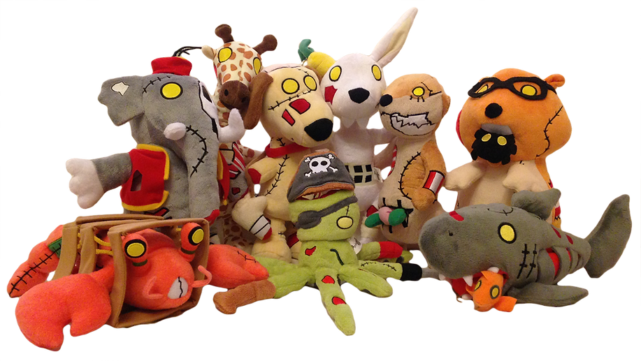 Plush versions of the Animazombs