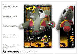 Animazombs packaging - concepts