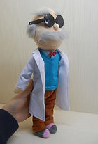 Professor Unbound plush sample from the Animazombs