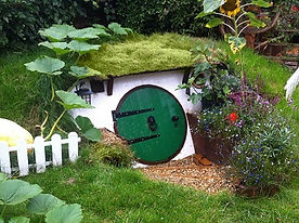 The UK Hobbit Hole garden shot