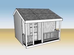 Cinema Exterior - CAD rendering