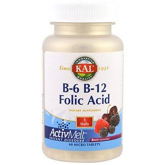 B-6 B-12 Folic Acid