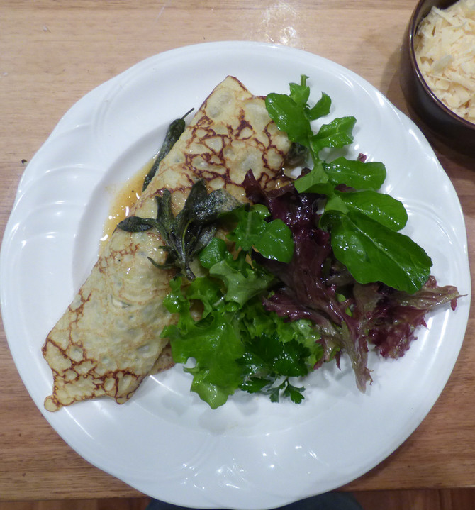 Silverbeet and ricotta pancakes