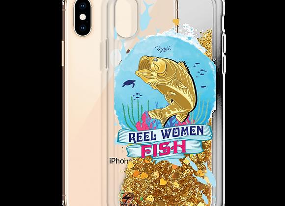 Reel Women Fish Liquid Glitter Phone Case