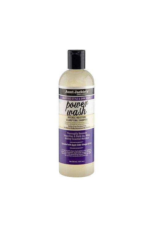 Aunt Jackies Power Wash Intense Moisture Clarifying Shampoo 12oz