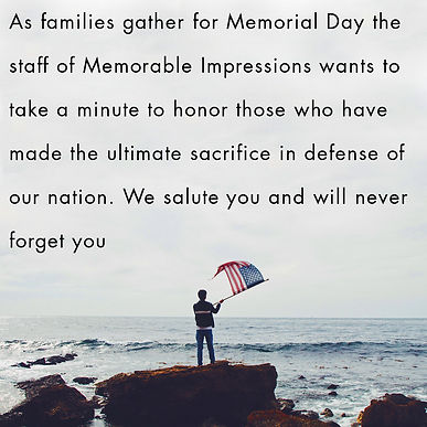 This is our Memorial Day observation.