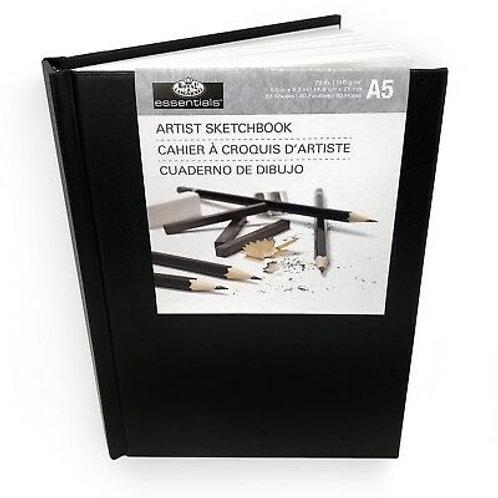 A5 Artist Sketchbook- Black