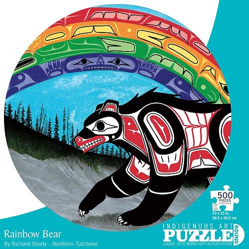 500pc Indigenous Art Puzzle- Rainbow Bear