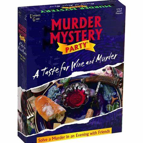 Murder Mystery Party- A Taste for Wine and Murder