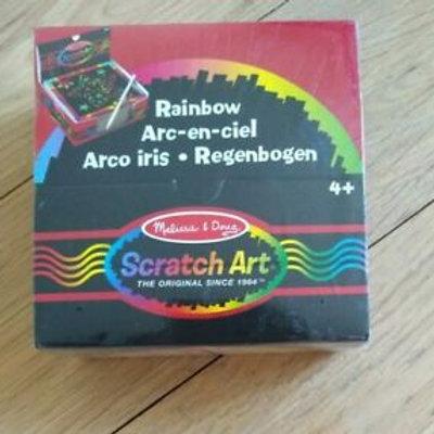 Mini Rainbow Scratch Art