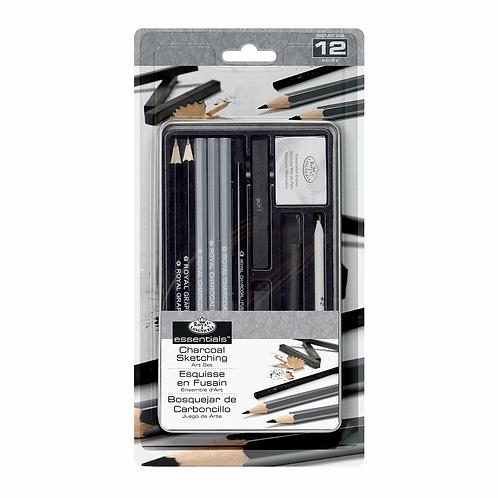 Charcoal Sketching Art Set 13pc