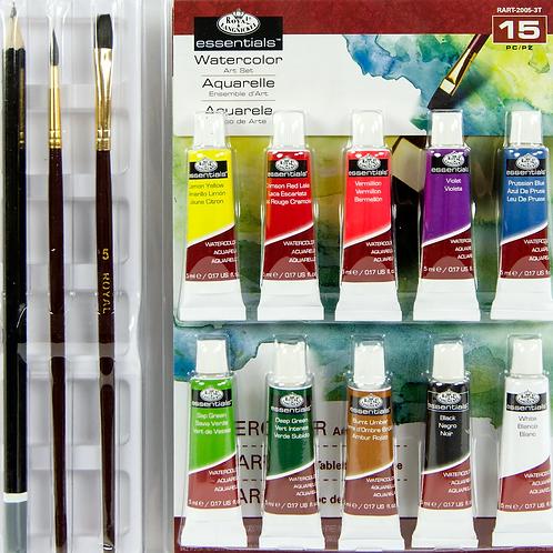 Water Colour Paint Art Set 15pc