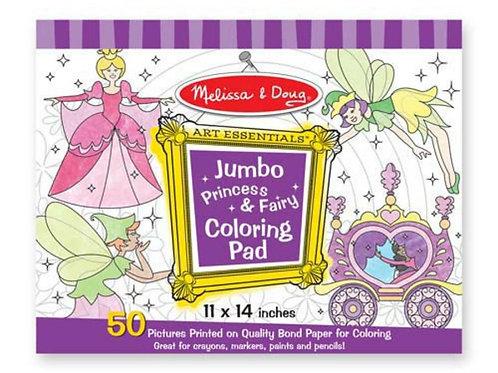 Princess & Fairy Jumbo Coloring Pad