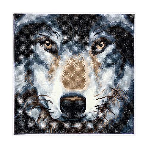 """Crystal Art 12""""x12"""" Wolf"""