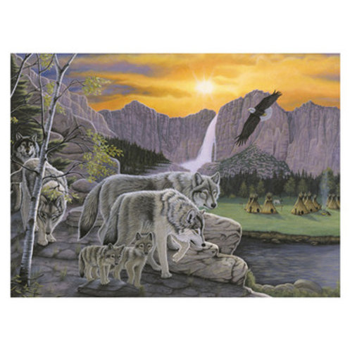 Paint by Numbers - Path of the Wolf Spirit PLJ38