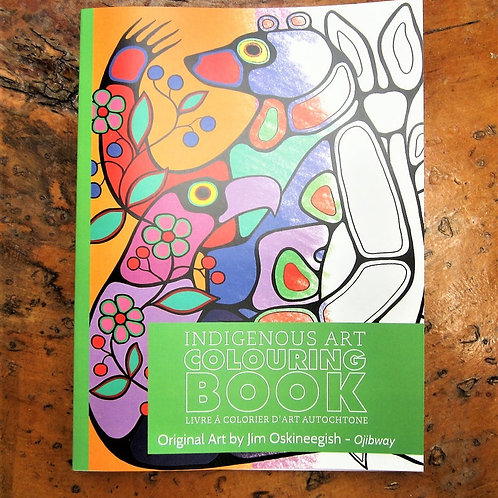 Indigenous Art Colouring Book Ojibway