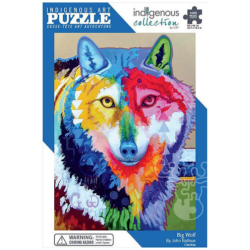 1000pc Indigenous Collection Puzzle- Big Wolf