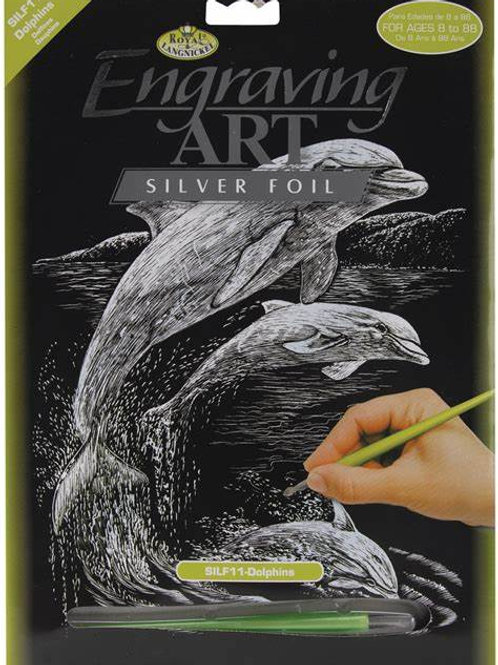 Engraving Art Dolphins