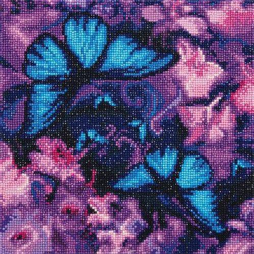 """Crystal Art 12""""x12"""" Blue Violet Butterflies"""