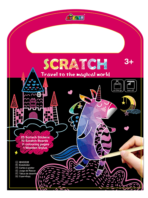 Scratch Art Travel to the Magical World