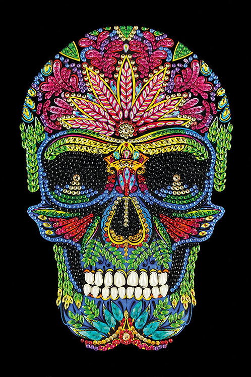 """Crystal Art Notebook 10""""x7"""" Skull"""