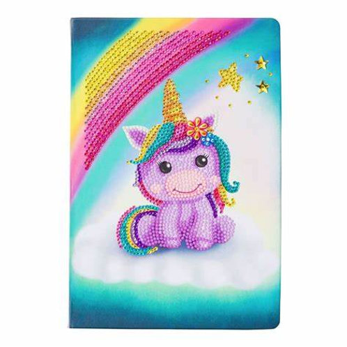 "Crystal Art Notebook 10""x7"" Unicorn Smile"
